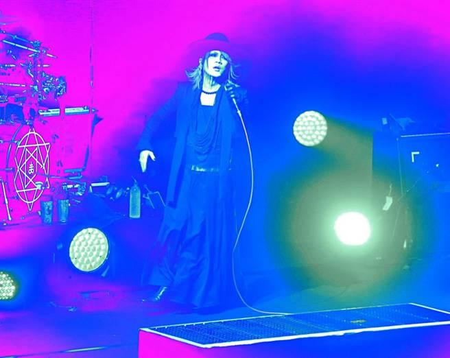 the GazettE今天在台北舉辦首場台灣演唱會。(粘耿豪攝)