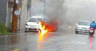 楊梅火燒車 路旁住戶遭波及