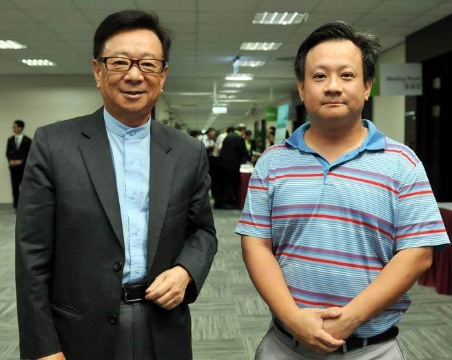 聯電榮譽副董宣明智(左)之子宣昶有(右),6年前訴請離婚終於判准。(洪錫龍攝)
