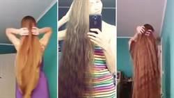 戰鬥民族女子想當《長髮公主》 竟13年沒剪髮