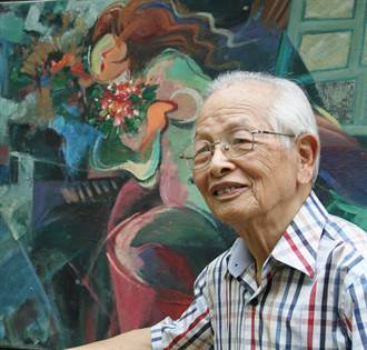 我沒時間老!蔡其祥90歲樂當「型男」藝術家
