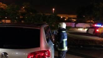 男休旅車內燒炭  警消破窗已死亡
