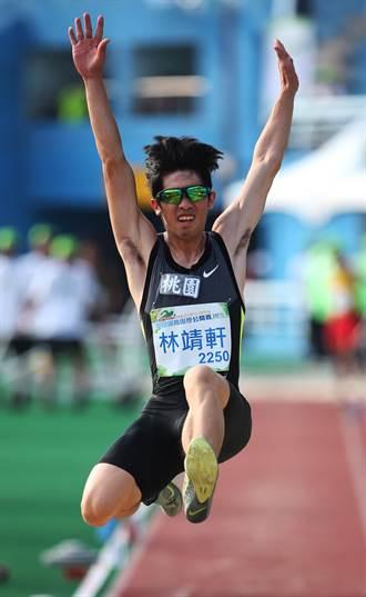 台灣田徑公開賽 林靖軒奪男跳遠銅牌