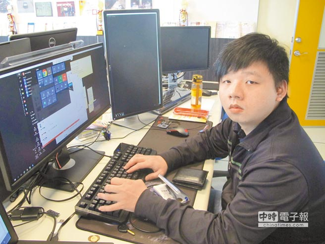 健行科大資工系碩二學生黃冠龍獲總統教育獎(賴佑維攝)