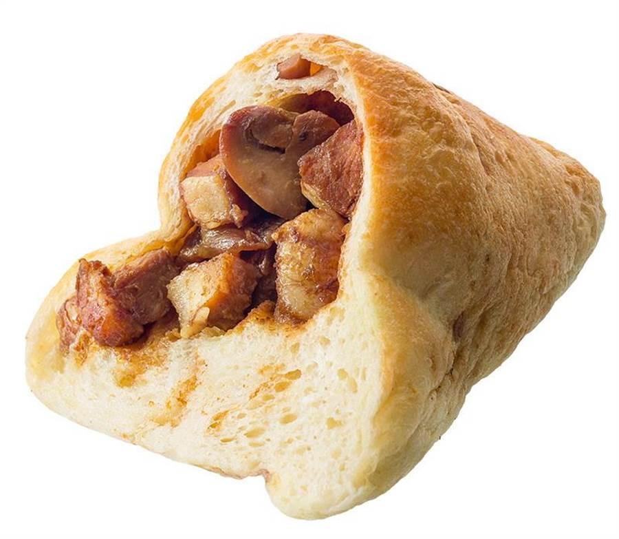 和風味噌五花肉麵包粽」的味噌是Hashi日本料理餐廳主廚以獨家配方比例調製。(圖/帕莎蒂娜烘焙坊)