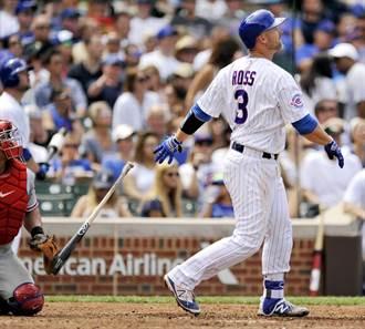 MLB》老捕手神來3分彈 小熊3連勝
