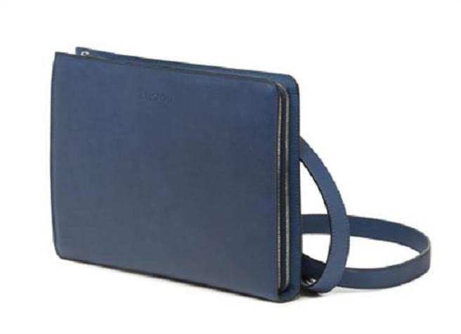 a testoni海軍藍皮夾。圖片提供/a testoni