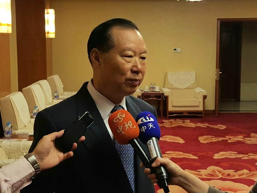 前国台办副主任王在希(图)表示,「解决台湾问题可以没有时间表,但必须要有紧迫感」,大陆可从三方面多管齐下。(蓝孝威摄)
