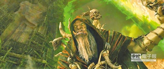 吳彥祖手持「古爾丹」的駭人法杖氣勢十足,但片中真正的扮相(圖)卻讓粉絲不敢置信。