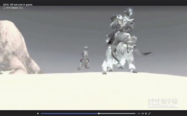 馮迪索2014年時貼出一段在《魔獸世界》的遊戲畫面,他在前,後面是保羅沃克。(取材自臉書)