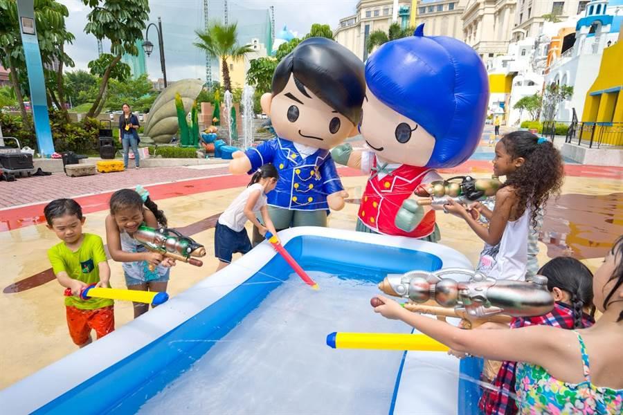 義大遊樂世界將於暑假期間推出的「萌學園水戰活動」,未演先轟動。(圖/義大遊樂世界提供)