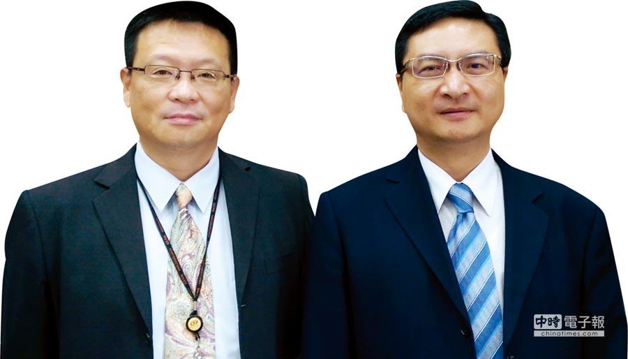 凌巨董事長林盛昌(右)、總經理濮家銓(左)。圖/袁顥庭