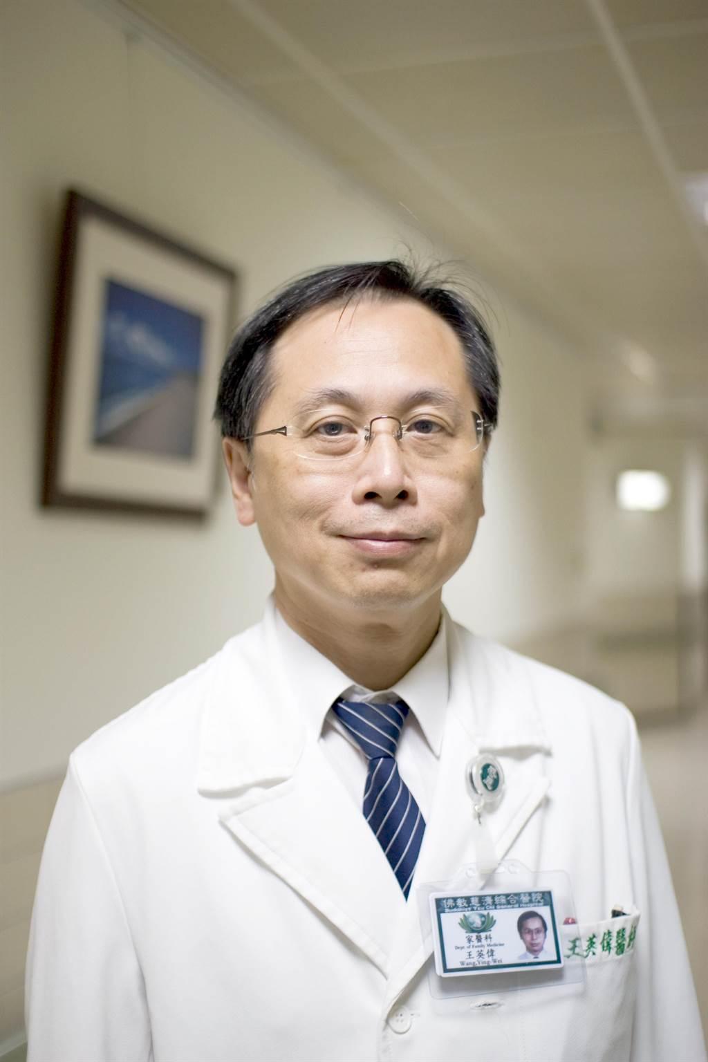 花蓮慈濟醫院心蓮病房主任王英偉即將接任衛生福利部國民健康署署長。(花蓮慈濟醫院提供)