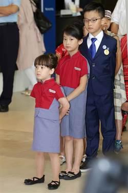 最萌空服員!4歲王希蕾好吸睛