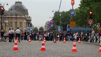 歐足賽開踢  巴黎鐵塔下球迷蜂聚維安嚴