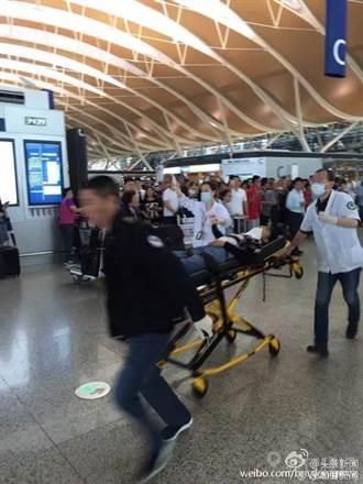 上海公安局:浦東機場爆炸4人遭波及受傷 嫌犯割喉自盡