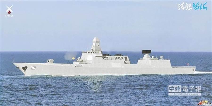 解放軍準備測試055驅逐艦,將造6艘護衛航母。(取自環球網)