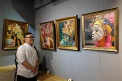 留美碩士用油畫記錄八家將 行銷台灣廟會文化