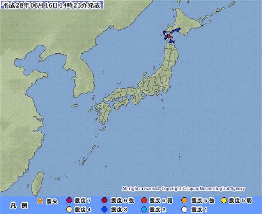 地震 函館