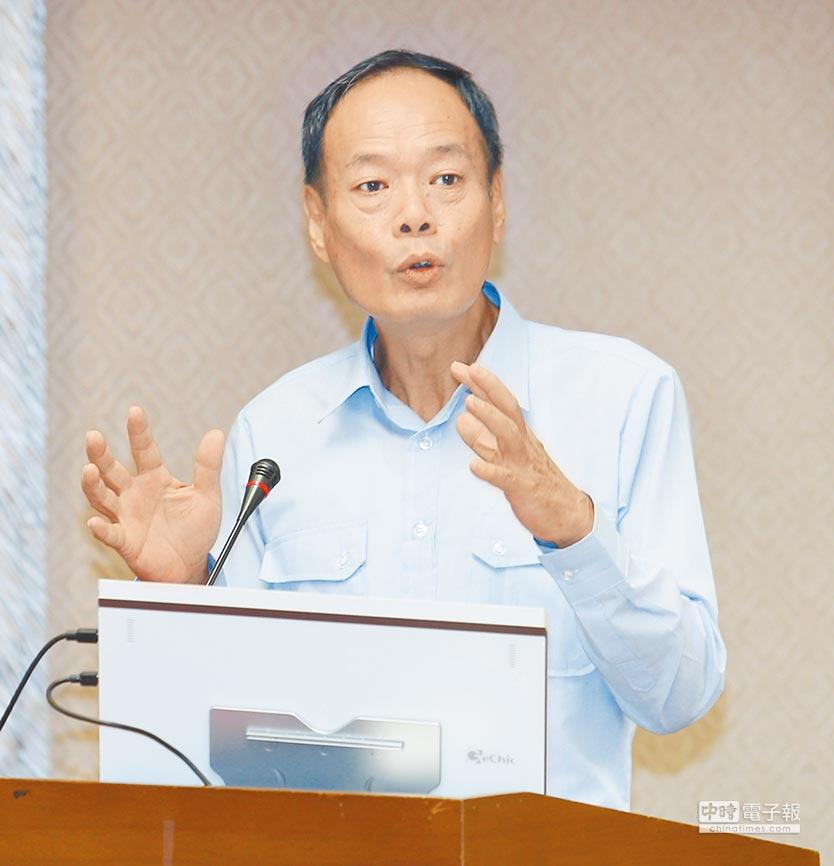 海巡署長李仲威16日在立法院表示,沖之鳥海域護漁不打折扣。(本報系記者姚志平攝)