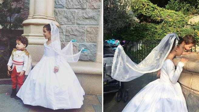 她為女兒設計多套公主服飾 其中雀鳥牽頭紗的造型最吸睛(圖片取自instagram)
