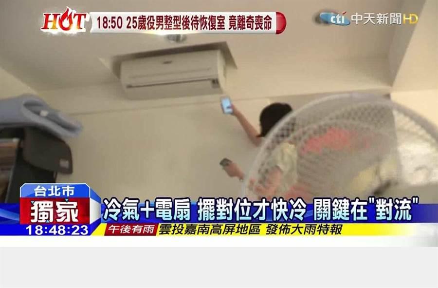 冷氣+電風扇正確使用 電費「越吹越省」