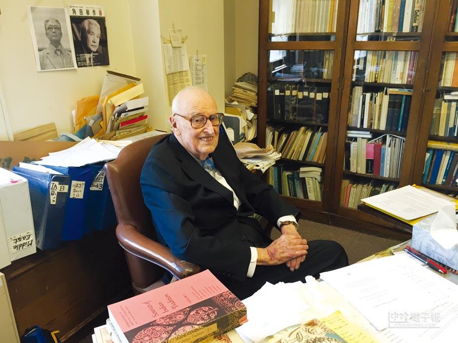 第二屆唐獎漢學獎得主美國哥倫比亞大學榮退教授狄百瑞(William Theodore de Bary)。圖/唐獎教育基金會提供