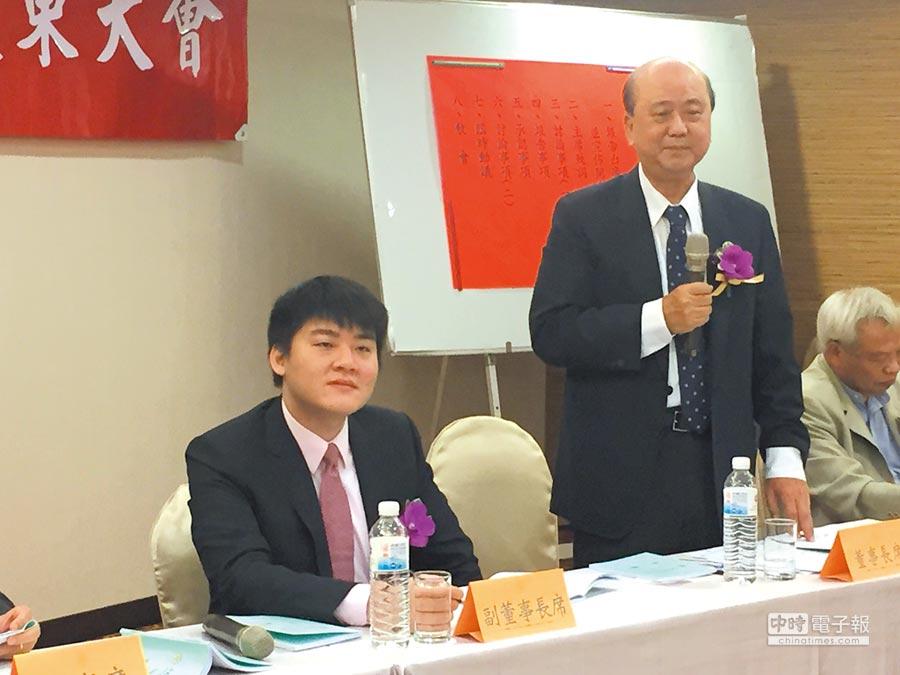 「宏泰小王子」宏盛建設副董事長兼總經理林鴻森,首度列席股東會。