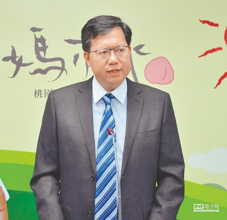 交通部喊出第三跑道要早5年完工,桃園市長鄭文燦希望環評先行。(蔡依珍攝)