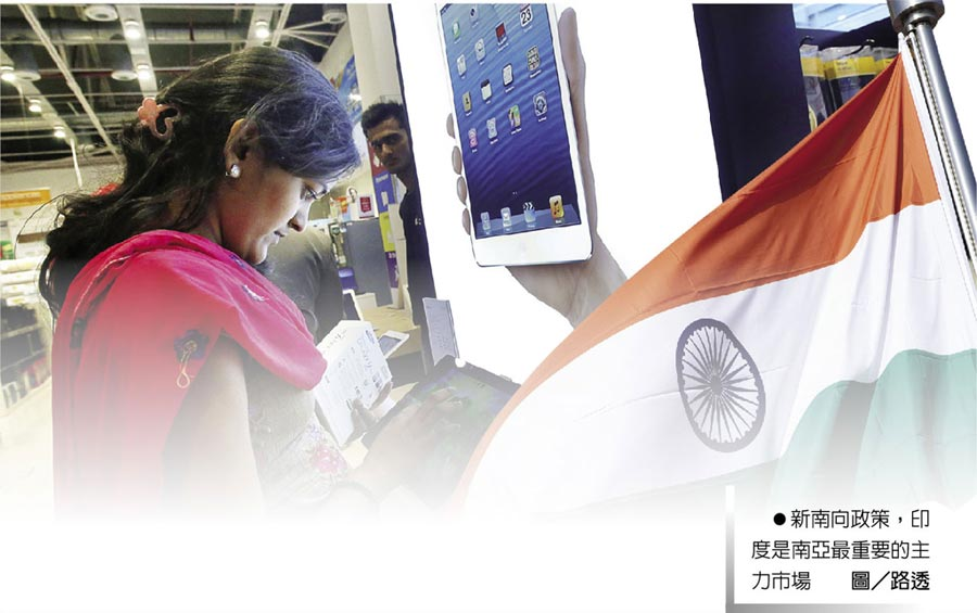 新南向政策,印度是南亞最重要的主力市場。圖/路透