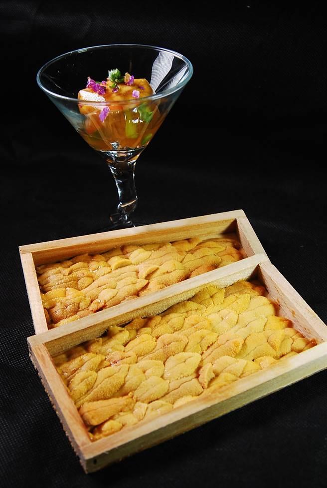 日本海膽的種類多樣,在〈子元.壽司割烹〉可以嘗到紫海膽、馬糞海膽與赤海膽。(圖/姚舜攝)