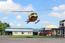退役UH-1H直升機退役 贈新營育德工家
