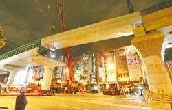 台中捷運 高架串聯完畢 完成最後吊梁 預計107年底試營運