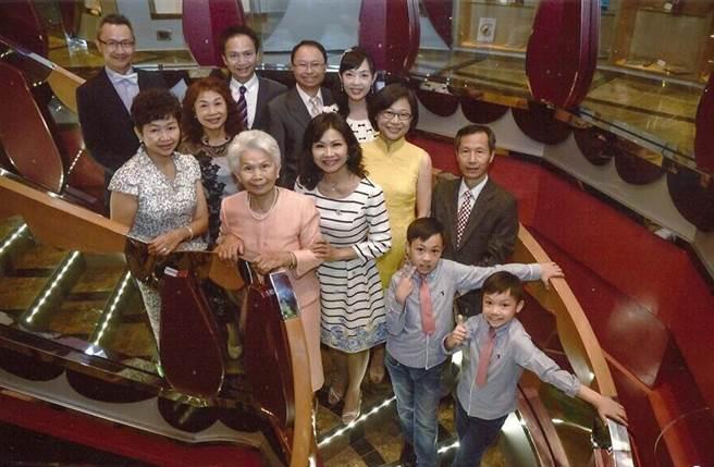 傅瑞麟與家人出遊土耳其伊斯坦堡,於地中海遊輪上合影。