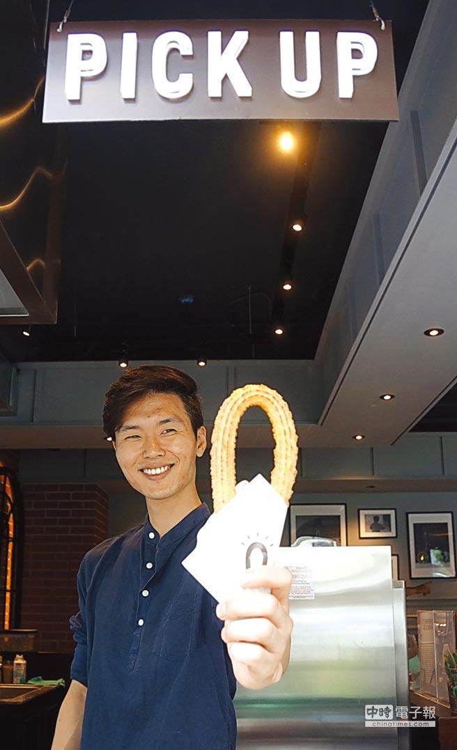 來自韓國的人氣吉拿圈專賣店〈Street Churros〉,以馬蹄鐵形狀的吉拿圈與多種吃法,在韓國快速竄紅,如今在台北開店。圖/姚舜