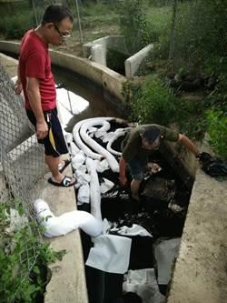 排水溝現油汙 中市環保局抓到生技公司禍首