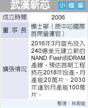 武漢新芯 小檔案
