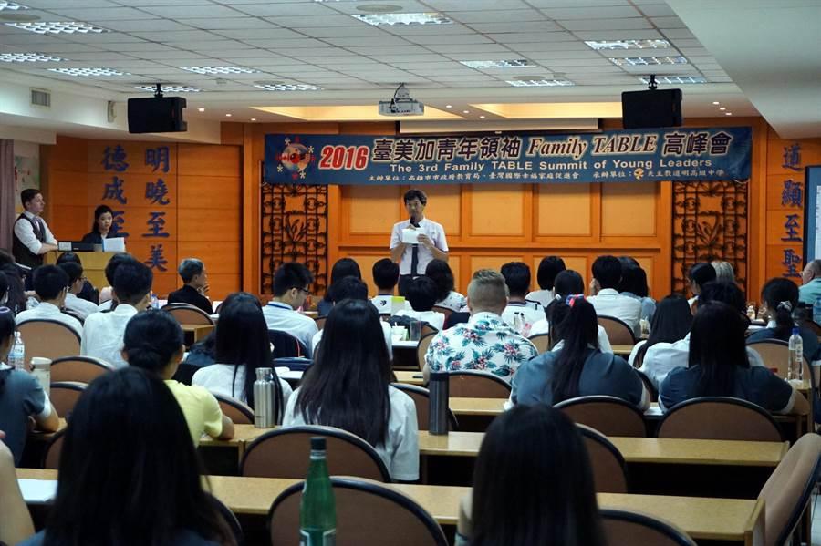 道明中學校長林耀隆表示,陪伴是個體成長過程重要的因素。(道明中學提供)