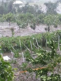 花蓮風雨增強  六十石山雨量多