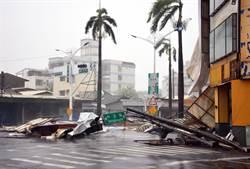 強颱尼伯特發威 屏縣近4萬戶停電