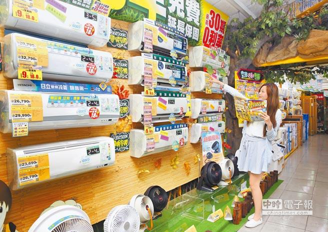 35度高溫近半個月,燦坤空調銷售量飆5成,會員特典再祭出刷台新聯名卡再送100元還元金。(張祐銘攝)