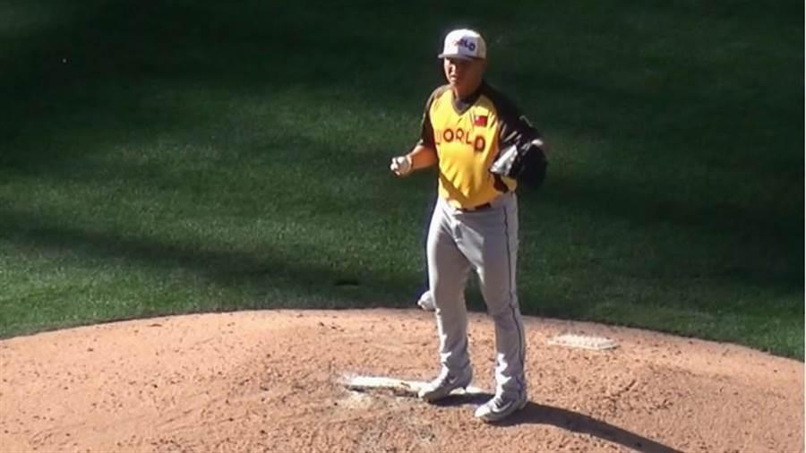 胡智為今年表現出色,獲《棒球美國》選為2A明星隊。(中央社資料照)