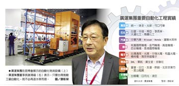 廣運董事長謝清福:推自動化 台商更願鮭魚返鄉 不用擔心勞力短缺和薪資成本上漲