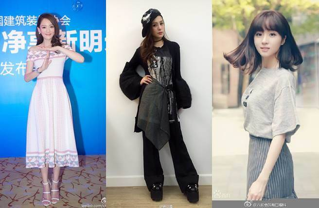 據自稱提供伴娘團禮服的廠商透露,陳喬恩(左起)、阿嬌、胡冰卿將擔任陳妍希北京場婚禮伴娘。(圖/取材自微博)