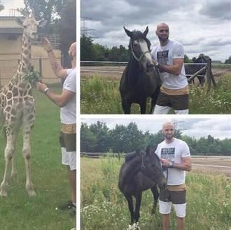 NBA》另類寵物!葛泰養長頸鹿與兩匹馬