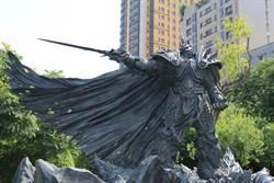 魔獸世界阿薩斯 化身青銅雕像長駐台中草悟道