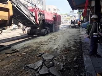 中市復興路千瘡百孔 啟動路平預計27日完工