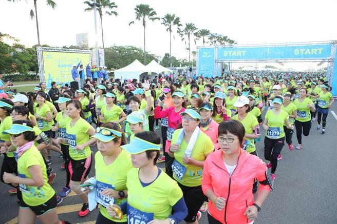 第二屆Mizuno Lady's Running高雄自由開跑。(驊采整合行銷提供)