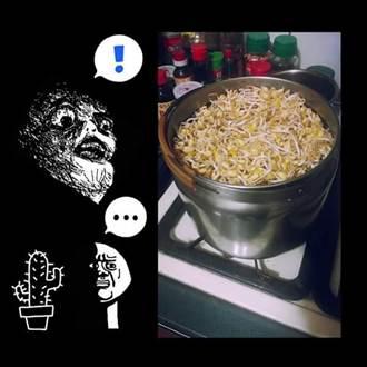 爸爸想煮綠豆湯 結果卻GG了