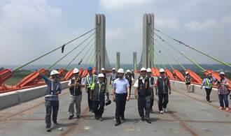 烏日溪尾大橋工程進度超前 預計10月完工